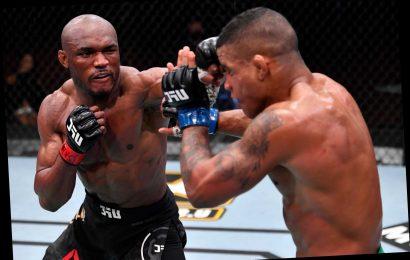 Kamaru Usman faces six-month ban over fears he broke his foot in UFC 258 win over Gilbert Burns as suspensions revealed