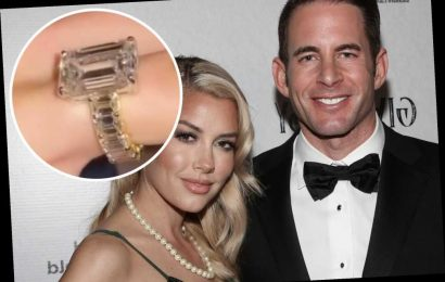 Heather Rae Young shows off engagement ring upgrade from Tarek El Moussa