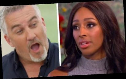 Alexandra Burke saved by Paul Hollywood during rogue Celebrity Bake Off disaster