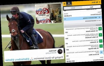 Would YOU cash out? Racing punter stands to win more than £500,000
