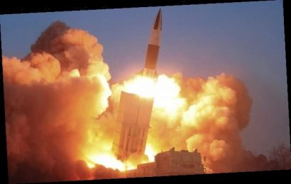 North Korea fires off short-range missiles
