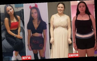 Student, 18, builds her confidence back after losing five stone