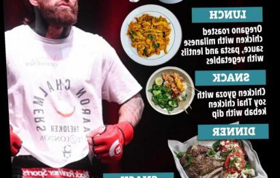Inside Aaron Chalmers' 3,000 calories a day diet as Geordie Shore star moves from MMA to pro boxing