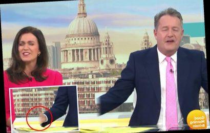 Good Morning Britain fan spots weird blunder as Piers Morgan's left hand gets 'cut off'