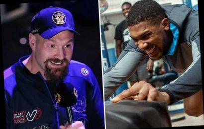 Anthony Joshua brands himself 'the landlord' after signing whopping £500m two-fight deal to face rival Tyson Fury