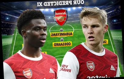 How Arsenal could line up against West Ham with Saka and Odegaard returning after being rested for Europa League