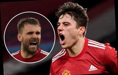 Luke Shaw trolls 'little kid' Dan James over Man Utd celebration and jokes 'he just doesn't know what to do'