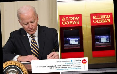 Wells Fargo and Chase customers furious over stimulus check delays as banks refuse to process $1,400 until March 17