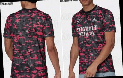 Arsenal pre-match training shirt for next season 'leaked online' with fans not keen on 'hideous' adidas camouflage kit