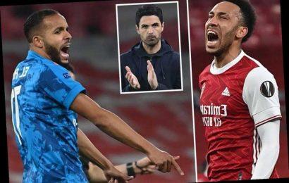 Arsenal 0 Olympiacos 1 (3-2 agg): Wasteful Gunners scrape through to quarters despite El Arabi strike for 10-man Greeks