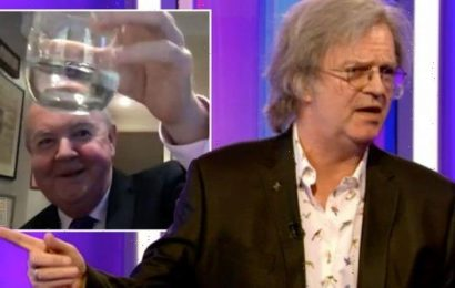 'Can't string a word!' The One Show in chaos as Paul Merton blasts Ian for being 'drunk'