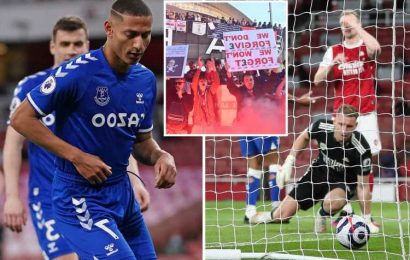 Arsenal 0 Everton 1: Bernd Leno howler gifts Toffees the points amid angry Kroenke out fan protests at the Emirates