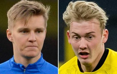 Arsenal line up £22m Julian Brandt transfer as Plan B to Martin Odegaard after Real Madrid make him 'untouchable'