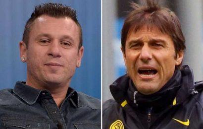 Inter Milan players should demand board SACK 'boring' Antonio Conte despite club storming to Serie A title, says Cassano