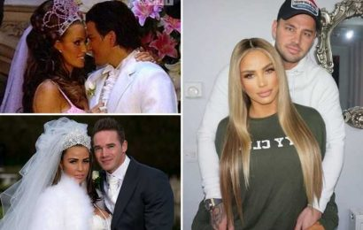 Katie Price bans exes Peter Andre and Kieran Hayler from Carl Woods wedding and hints she could be a pregnant bride
