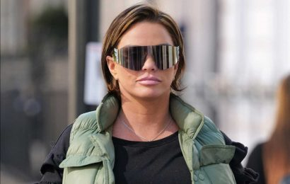 Katie Price ditches her wig to show off short brown 'natural' hair as she films cosmetic surgery documentary