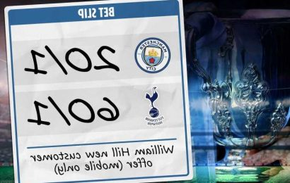 Man City vs Tottenham betting offer: Get huge price boost with City at 20/1 and Spurs at 60/1