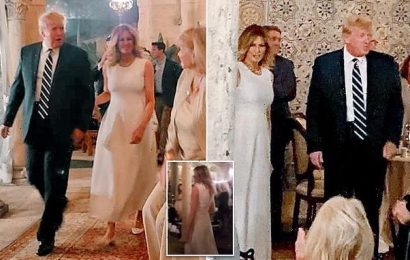 Melania breaks cover! Former first lady makes rare public appearance