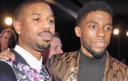 Michael B. Jordan Reacts to Chadwick Boseman's Oscar Loss, Black Panther 2 Questions