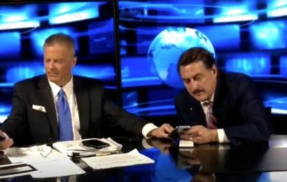 Mike Lindell Pranked Into Taking a Fake Call From Trump on Livestream