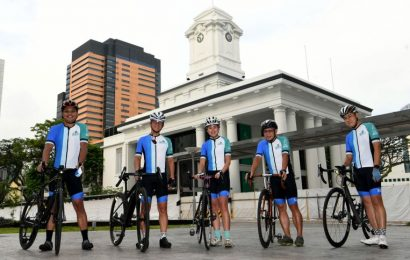 OCBC Cycle: 20-strong SGH cycling team out to raise funds for needy patients