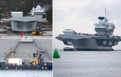 Royal Navy carried out repairs on HMS Queen Elizabeth