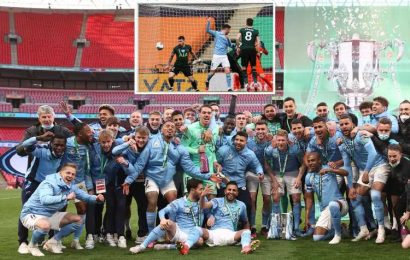 Tottenham 0 Man City 1: Late Laporte goal gifts Guardiola and Co record FOURTH Carabao Cup title in a row