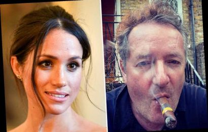 Piers Morgan in swipe at Meghan Markle saying he'll tell the 'actual truth' as he puffs cigar before 'nuclear' interview
