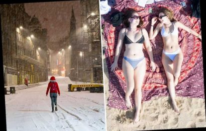 UK weather –  SNOW and gales to hit the UK as Arctic Blast brings chilly 5C after heatwave