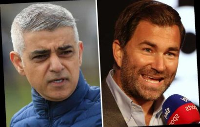 Mayor Sadiq Khan wants London to host Joshua vs Fury and will 'do what we can to support Eddie Hearn'