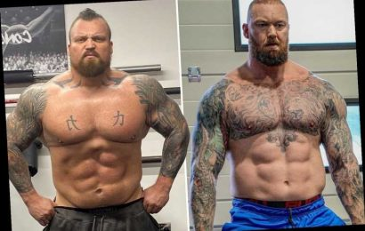 Games of Thrones star Hafthor Bjornsson shows off huge hulking body ahead of boxing fight against Brit rival Eddie Hall