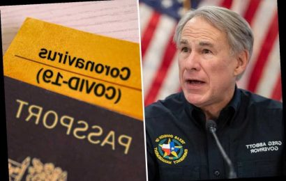 Texas bans vaccine passports as Governor Greg Abbott files executive order to ensure 'personal freedom' of residents