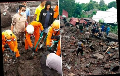 Rescue teams search for survivors after mudslide kills 113 in Indonesia