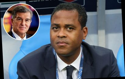 Barcelona 'axe Patrick Kluivert as director of iconic La Masia academy' as new president Joan Laporta overhauls club