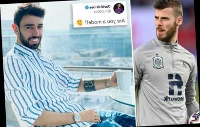 Bruno Fernandes trolled by Man Utd team-mate De Gea over 'model' photo as he invites fans to Twitter Q&A