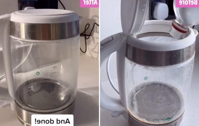 'Ashamed' mum finally descales kettle covered in limescale & reveals easy hack using vinegar