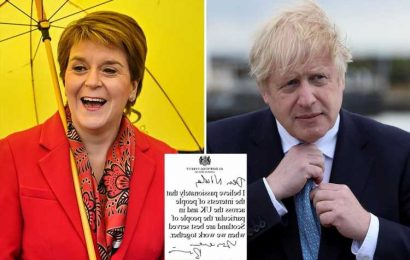 Boris Johnson challenges Nicola Sturgeon to choose between people's livelihoods & her dreams of an independent Scotland