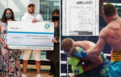 Chris Eubank Jr donates £10,000 winnings to children's charity after betting rival Saunders would lose to Canelo Alvarez