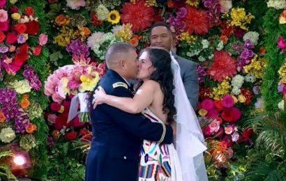 Couple who postponed wedding twice due to COVID get dream wedding on 'GMA'