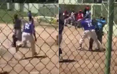 Dominican League player attacks umpire with bat, helmet in crazy scene