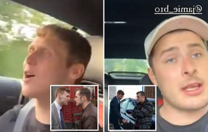 EastEnders stars Max Bowden and Jamie Borthwick show off their amazing singing voices in sweet video