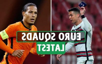 Euro 2020 squad announcements: Van Dijk OUT for Holland, Turkey, Russia, Ukraine and Hungary squads and key dates