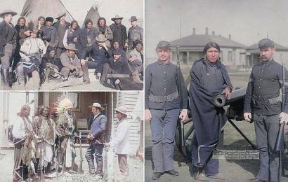 Impact of western settlers on Native Americans in colorized photos