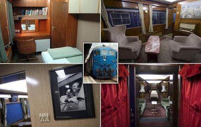 Inside time capsule train used by Yugoslavian ruler Josip Broz Tito