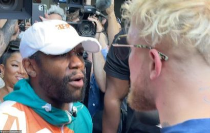 Jake Paul Claims His Eye Got Punched in Physical Altercation With Floyd Mayweather Jr.