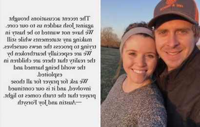 Josh Duggar's sister Joy-Anna and husband Austin are 'heartbroken' as they break silence over child pornography arrest