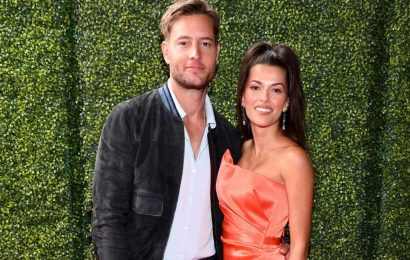Justin Hartley gets cozy with new wife Sofia Pernas at lunch