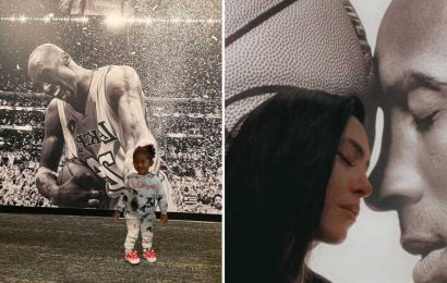 Kobe Bryant's widow Vanessa poses with pic of star as he's set to be inducted into Hall of Fame tomorrow