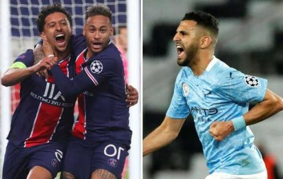 Man City vs PSG: Live stream FREE, TV channel, kick-off time and team news for Champions League semi-final second leg