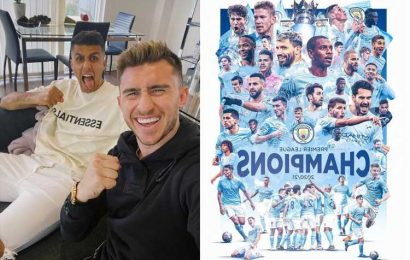 Man City win Premier League title after Man Utd loss secures fifth crown in a decade and kick starts wild celebrations